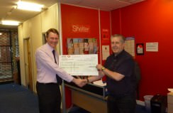 B&M donation to shelter charity